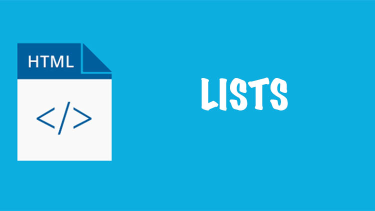 lists written on a blue background