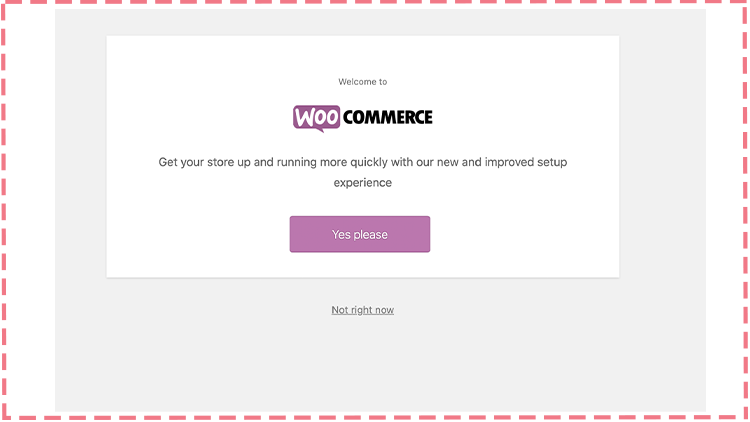 starting woocommerce setup process
