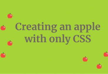 creating an apple with only css