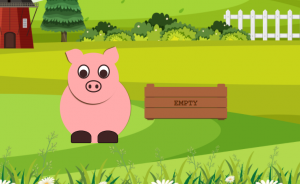a piggy made with css